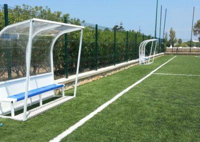 Campo de fútbol 7 con césped artificial en Marruecos