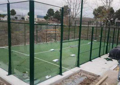 Construcción pista padel Alcolea de Tajo