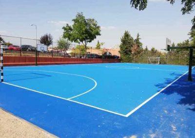 Rehabilitación pista deportiva en Alcobendas